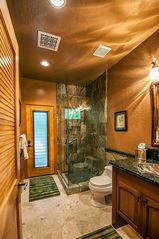 Kailua Kona house photo - Third full hall bath with rain forest marble shower and granite counter top.
