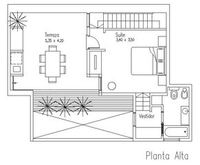 Palermo apartment photo - Upstairs Floor Plan