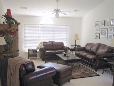 Sunset Beach townhome rental - Villa (Upper Level) - Living Room
