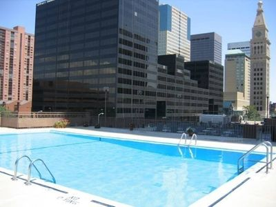 Heated pool (during summer months)