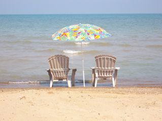 Port Sanilac cottage photo - Toes in the sand !!