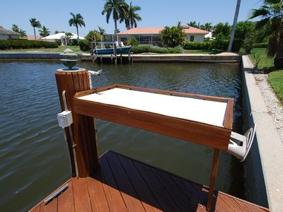 Large and Functional Fish Cleaning Station on the Dock