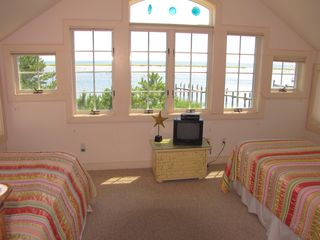 New Seabury house photo - twin bedroom with ocean view-2nd floor