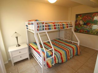South Padre Island house photo - Lower unit 2nd bedroom - full/twin bunk