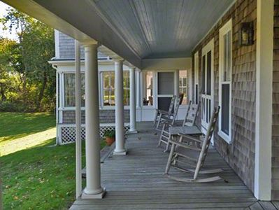 Covered Porches Have Ample Room to Relax