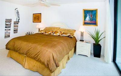 Master bedroom with comfy King size bed.