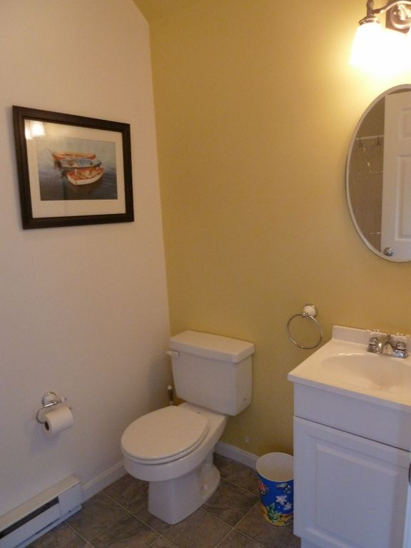 Bathroom in detached guest cottage (shower, toilet & vanity)
