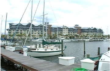 View of Private 4 star hotel-resort and Yacht harbor