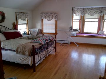 Saco house rental - Master Bedroom, King bed - View 1