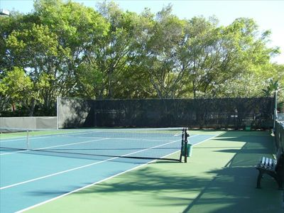 Tennis Courts a block away