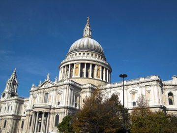 St. Paul's Cathedral (only 2 stops by tube 7 mins)