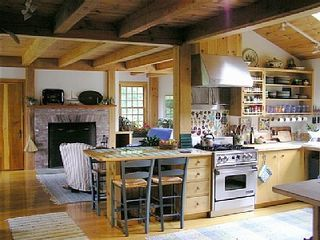 Gayhead - Aquinnah house photo - Country kitchen opens to family room