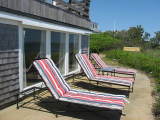 Harwich - Harwichport house photo - Perfect spot to relax by the West Wing. Deck off Crow's Nest is just visible.