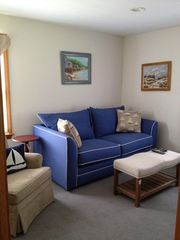 Mashpee house photo - Den - brand new couch has pullout full bed.