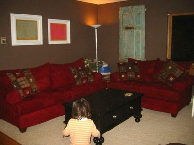 New living room, son not included in rental!