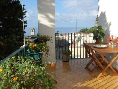 Sea view, 5 minutes from the Piazzetta, no stairs, center