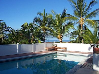 Kailua Kona house rental - Enjoy your own private pool with the beautiful Pacific Ocean in the background