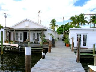 Pine Island cottage photo - view from dock of the Snook cottage (Available for rent starting Summer 2013).