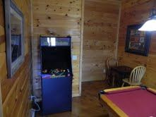 Pigeon Forge cabin rental - Gameroom with new Arcade 60 in 1