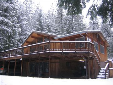 Pollock Pines cabin rental - Cedar Cabin in Snow on 5 Walkable Acres - Property is not on a cliff like most.