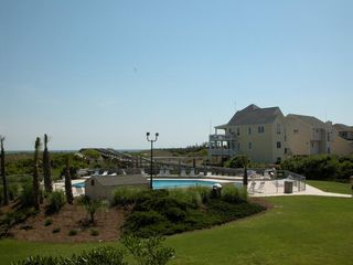 Atlantic Beach villa photo - another view of the outdoor swiming pool