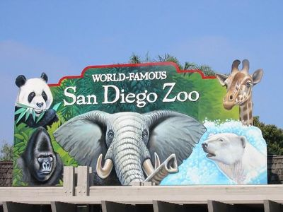 World Famous San Diego Zoo 10 minutes from rental