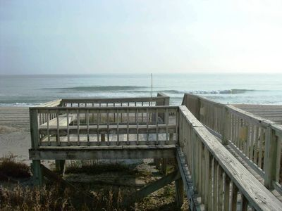 Walkway and Deck right on the beach!