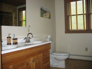 Bridgewater Corners farmhouse photo - Upstairs bathroom