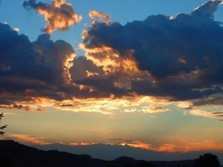 Moab condo photo - Sunset View from Patio. What is a Sundowner?