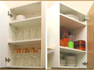 2 of several cupboards in kitchen