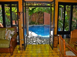 Tamarindo house photo - The living area opens to the private pool...a true oasis!