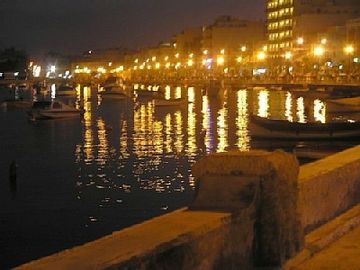The Sliema promenade by night just down from Apt