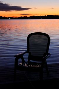 Annandale cottage rental - Deck chair at the end of the dock