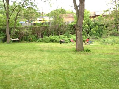 Grand Rapids bungalow rental - Some people say they have a big yard, we mean it, we mow it. Plenty of room.