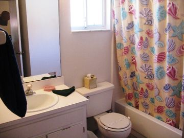 Attached master bath