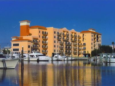 View of Madeira Bay Resort from Boca Ciega Bay