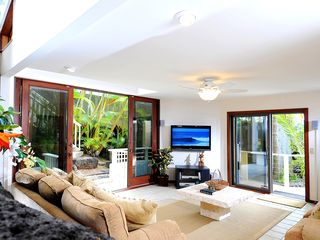 Honolulu house photo - The den is surrounded by lush tropical gardens