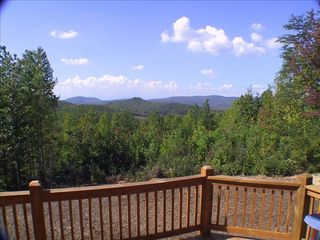 Asheville cabin photo - Gorgeous blueridge mountains from rear main deck..