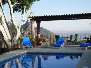 Tepoztlan estate photo - pool with a view