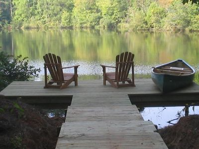 Relax on your own personal dock, listening to the sounds of nature.