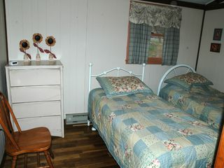 Luray cabin photo - Second bedroom with twin beds