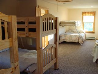 West Wardsboro house photo - 2nd Floor Bunk Room sleeps 7. 2 large closets and sun from morning to night.