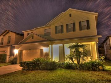 Sunrise Lakes house rental - Home front at night