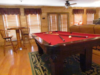 Pool table with pub style seating . . .