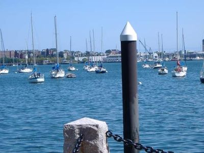 Boston Harbor-a short walk from our place
