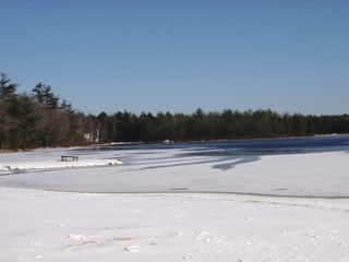 Poconos Pines - Pinecrest Lake townhome photo - pinecrest lake in winter