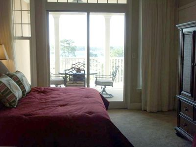 Master bedroom with same view as balcony