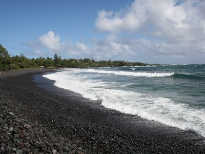 Walk across the street to Waikoloa Beach or down the road to Hana Bay