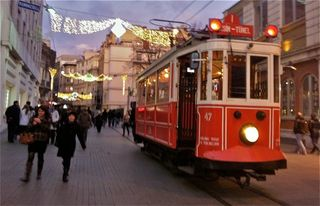 Istanbul apartment photo - Trolley on Istanbul's main entertainment, dining, & shopping street, Istiklal