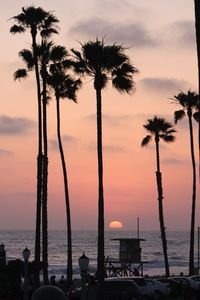 Newport Beach condo rental - Sunset in Front of Condo